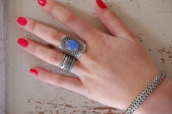 Zilveren ring met - Revelery