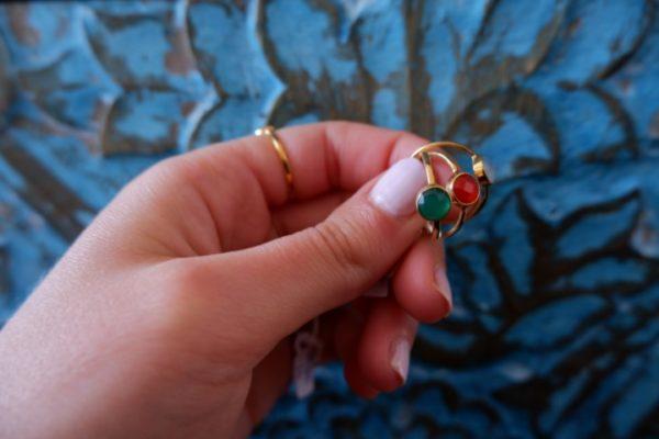 Ringen gold plated met edelstenen - Revelery