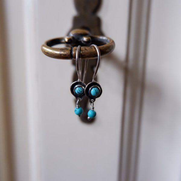 Zilveren oorbellen met Turkoois - Revelery