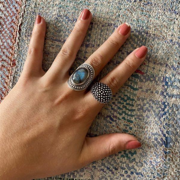 Ring met Labradoriet - Revelery