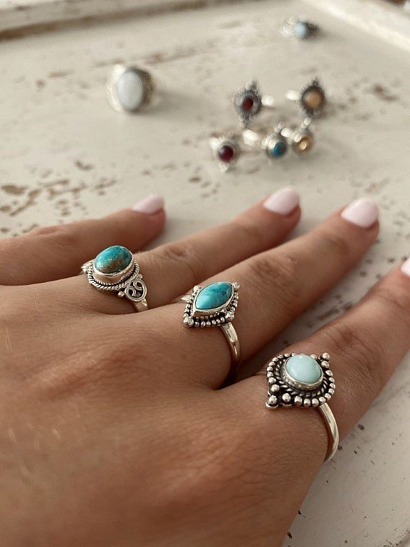 Ringen met turquoise - Revelery