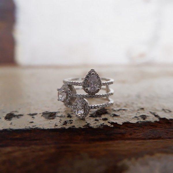Zilveren ring met Zirkonia - Revelery