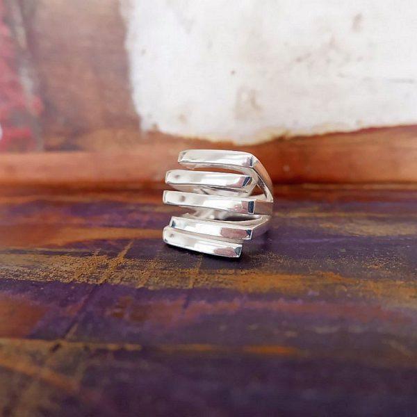 Brede zilveren ring - Revelery